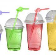 Пластиковые стаканы с купольной крышкой