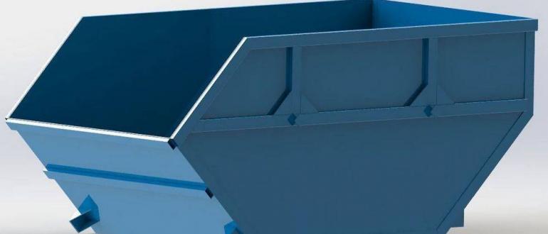 Разновидности и характеристика контейнеров для крупногабаритного мусора